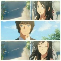 Kimi no Na wa/Your name. Truly a beautiful anime that my ❤ hurt best ever along with Spirited Away Kimi No Na Wa, Otaku Anime, Manga Anime, Anime Art, Fanarts Anime, Anime Films, Me Me Me Anime, Anime Love, Mitsuha And Taki