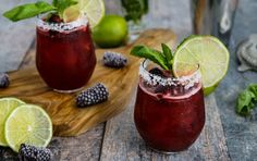 Mardi Gras Blackberry Basil Margarita | Recipe