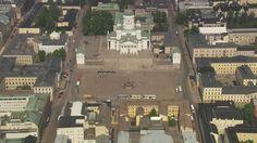 Senate Square - Helsinki, Finland - aerial view