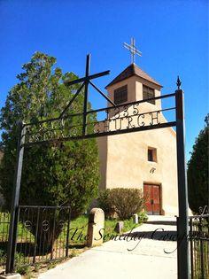 The historic San Isidro Church in Santa Fe - 1835