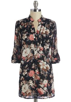 Beautiful Blends Top. Some things just go better together - peanut butter and jelly, song and dance, and you and this floral blouse! #multi #modcloth