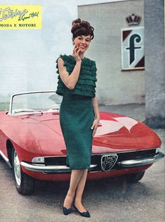 CABRIOLET ALFA ROMEO 1600 CARROZZERIA FARINA & GIRL - 1963