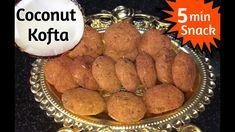 NARIYAL🥥 KE KOFTE   Less Ingredients - Crispy Kofta   COCONUT KOFTA   ना... Food To Make, Sausage, Coconut, Indian, Snacks, Meat, Recipes, Appetizers, Sausages