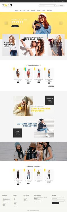 Template 61230 - Twen Fashion  Responsive PrestaShop  Theme