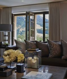 Take a look inside this gorgeous family home in Switzerland. Beautifully decorated and designed by Louise Bradley.