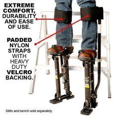 NEWEST Design Comfort Strap Drywall Stilts Leg Band Kit (COM-STRAP): Amazon.co.uk: DIY & Tools