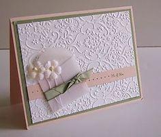 Attach invitation to folded cardstock