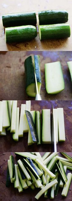 How to Cut Zucchini