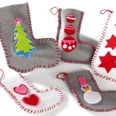 Imprimer et découper les gabarits pour faire des chaussettes de #Noel en feutrine avec Wesco Family.