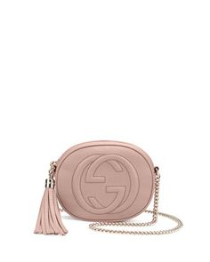 $795 Soho Leather Mini Chain Bag, Neutral by Gucci at Neiman Marcus.