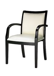 Mayline Mercado Espresso Wood Cream Leather Guest Chair (2 Pack for $604.99)