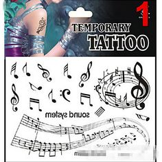 1 Tetovací nálepky Řada Message Non Toxic Vzor Glitter Spodní část zad Waterproof VánoceMiminko Dítě Dámské Girl Pánské Dospělý Boy - CZK Kč 410