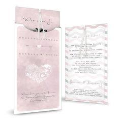 Einsteckkarten sind ein Hingucker ❤ Gestalten Sie unsere hübsche tolle Einladungskarten Hesther und Anthony mit Ihren Texten und Fotos