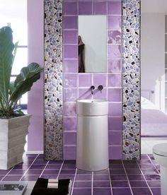 Purple Bathroom Tiles...