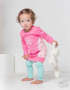 Quapi | Dress Fanessa Sweet | Legging Frida 1 Mint Baby Girls, Babys, Onesies, Mint, Graphic Sweatshirt, Sweatshirts, Sweet, Sweaters, Clothes