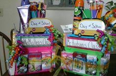 My 1st (set of) School Supply Cake *thanks Pintrest