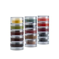 The Lumiere Stack by Ben Nye comes with 5 shades of Lumiere Creme colours which are heavily pigmented and easy to blend application. This Lumiere Stack comes in two series Metallics and Brilliants. The Lumiere Creme Colours are also available as individual colors in 02/LCR.
