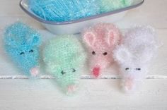 Baby Knitting Patterns Funny Rinse mice or peeling mice? Bubbles NO: 3 Baby Knitting Patterns, Free Knitting, Crochet Patterns, Chrochet, Knit Crochet, Crochet Animals, Crochet Designs, Diy And Crafts, Bubbles