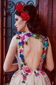 Beautiful Dresses, Nice Dresses, Prom Dresses, Wedding Colors, Wedding Styles, Non White Wedding Dresses, Sempervivum, Bff, Mexican Dresses