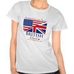 American Born British at Heart T-shirt