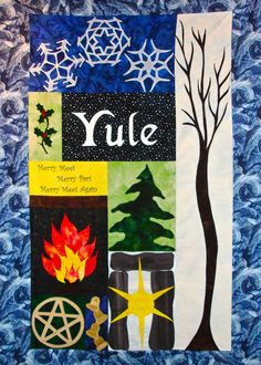 Yule Winter Solstice Quilt Wallhanging by BluePhoenixCreations