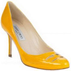Jimmy Choo Grainy Patent Leather Shoes -$290