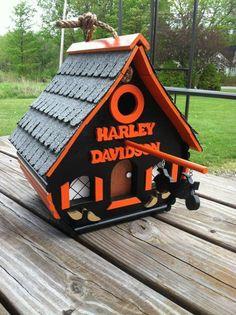 Neat Harley Davidson Bird house