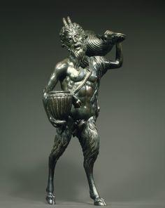 Andrea Briosco, called Riccio (Italian, Trent 1470–1532 Padua)  Date: ca. 1510–20  Culture: Italian, Padua  Medium: Bronze  Dimensions: Overall, measured as illustrated, not max. dims (confirmed): H. 14 1/8 x W. 6 1/4 x D. 4 3/4 in. (35.9 x 15.9 x 12.1 cm);  Length of tangs under hooves: 2 3/4 in. (7 cm)  Classification: Sculpture-Bronze
