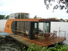 A rather cool houseboat in Berlin | found at fuckyeahthatsmydreamhouse.tumblr.com