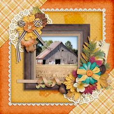 Farmscape Created Using  Sunrise Studio's Late Autumn Bundle from http://www.thedigichick.com/shop/Late-Autumn-Bundle.html
