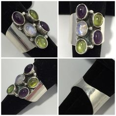 86% off Jewelry - 1 DAY SALE VTG SS Modernist Multi Gemstone ...