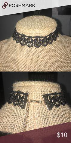 "Black Crochet Choker ⚫️ Brand new! 12"" length .7"" width Jewelry Necklaces"