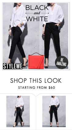 """""""StyleWe #17"""" by smajicelma ❤ liked on Polyvore featuring blackandwhite"""