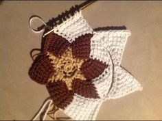 Tunisian Crochet - Entrelac new beginning of a triangle - YouTube NOT English