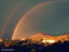 Amazing double rainbow OMG! Capilla del Monte, Cordoba, Argentina