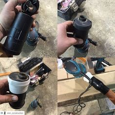 Nice @makitatools sander mod by @zion_construction ... If you pull the bag off the dust collection fitting that come with the #Makita sanders you may find that the rubber dust fitting fits perfectly on a #Rigid hose adapter. Cut dust chute off the back of the fitting (it drastically increases suction with this piece removed) and tape it up! I had made one of these dust adapters previously but I lost it somewhere. The dust collection with this hooked up to my vac/dust deputy is pretty…