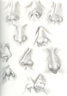 10 illustrated nose drawing ideas and inspiration. Learn how you can draw noses step by step. This tutorial is perfect for all art enthusiasts. Sketch Nose, Eye Sketch, Pencil Art Drawings, Art Drawings Sketches, Eye Drawings, Art Illustrations, Anatomy Art, Anatomy Drawing, Nose Drawing