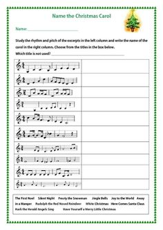 Name the Christmas Carol - this could be fun to do the last week before Christmas