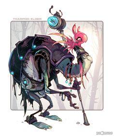 """Tharpod Elder by CreatureBox from """"Ratchet & Clank"""""""