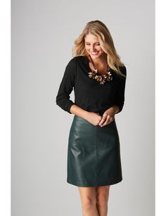 Faux Leather Mini Skirt | Faux Leather Mini Skirt | THE LIMITED