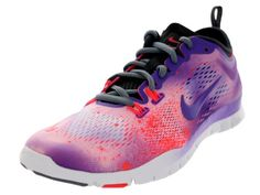 364155e6efe1d Nike Women s Free 5.0 TR Fit 4 PRT - White   Purple Venom-Laser Crimson