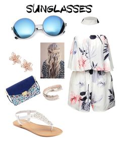 """Retro Sunnies"" by mayraflores534 on Polyvore featuring Revo, SONOMA Goods for Life, Mellow World, NAKAMOL, Topshop and RetroSunglasses"