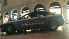 Italian police car on duty.