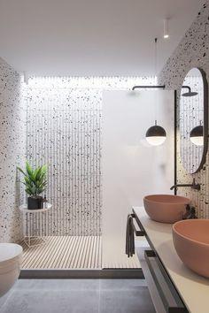 Modern Master Bathroom, Boho Bathroom, Modern Bathroom Design, Bathroom Interior Design, Bathroom Ideas, Bathroom Organization, White Bathroom, Minimal Bathroom, Bathroom Wall