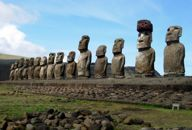 Moai on Easter Island. Took this while I was there in 2006.