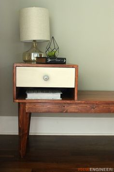 DIY Telephone Table Plans- Free DIY Plans | http://rogueengineer.com/ #TelephoneTable  #DiyLivingroom