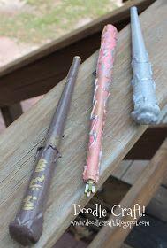 Doodle Craft...: Harry Potter Magic Wands DIY!
