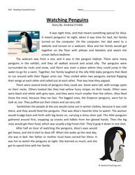 Watching Penguins Fourth Grade Reading Comprehension Worksheet