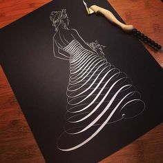 Anniversary Celebration Post This piece was a flourishing that I gave Hannah the day she went to go pick out her dress. The design was inspired by the lovely work of Linda Schnider. Pearlescent ink on black paper. By Jake Weidmann Flourish Calligraphy, Copperplate Calligraphy, Calligraphy Drawing, Penmanship, Drawing Grid, Midori, Black Paper, Moda Fashion, Letter Art