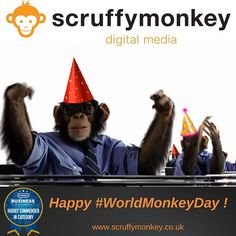 Celebrating #WorldMonkeyDay Scruffymonkey DM with a nice cup of tea! #web #website #webdesign #bolton #monkey #northwest #lancashire